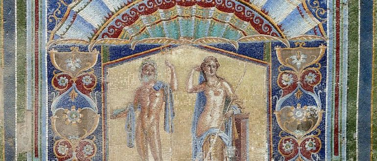 Искусство 48 (2.2) Искусство Древнего Рима. Римская мозаика на стене в Доме Нептуна и Амфитриты , I век.
