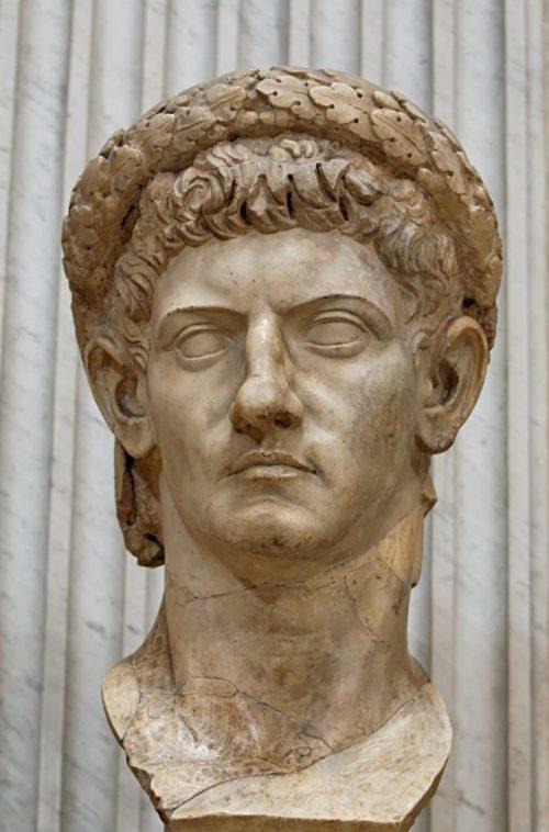 Скульптурный портрет императора Клавдия, I век