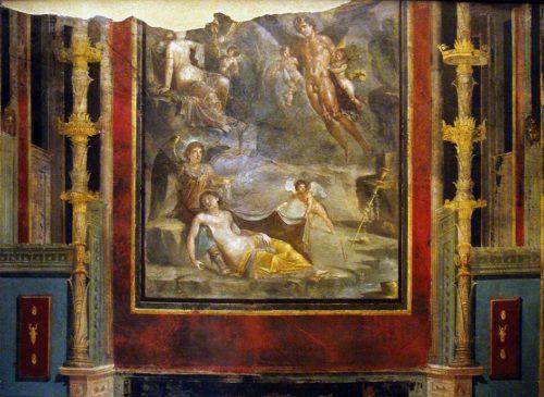 Фреска Свадьба Зефира и Хлориды, I век