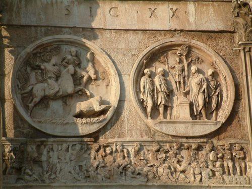 Часть Арки Константина, начало IV века