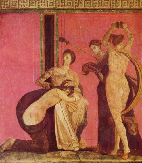 Фреска из Виллы Мистерий, 80 год до н. э