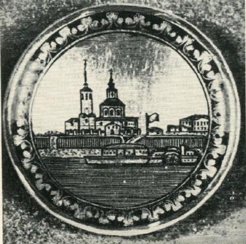 Вид Великого Устюга. Коробочка. 1920-е гг.