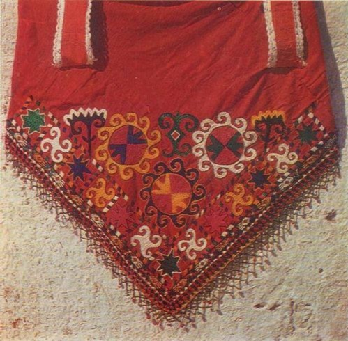 Вышитый угол бугджамы. Кишлак Ходжа-Пулласт