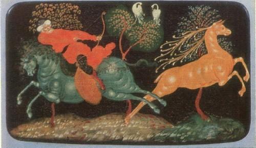 Иван Голиков. Шкатулка Охота на оленя. 1924