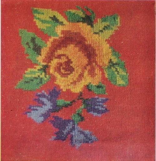 Н. П. Дорошкова.Накидка на кресло «Розы». 1970-е гг.