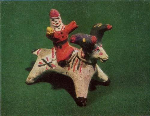 У. И Бабкина. Вершник на олене. 1960-ые