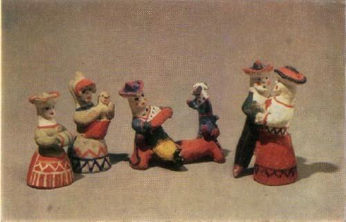 У. И. Бабкина. Крестьянка с муфтой,«Кадриль» Кормилица (Гармонист с собакой, с младенцем).