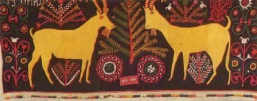 Ш. Хамидова. Ковер «Два козла». 1979