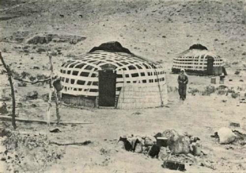 Юрты на отгонных пастбищах. Узбекская ССР