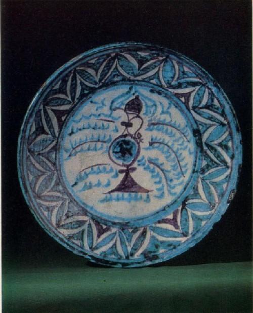 X. Сатимов. Блюдо с росписью. 1977