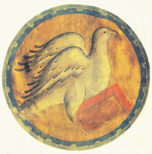 Андрей Рублев. Орел Символ евангелиста Иоанна Евангелие Христово. конец XIV века