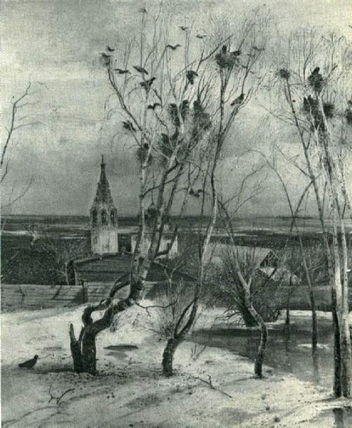 А. К. Саврасов. Грачи прилетели. 1871