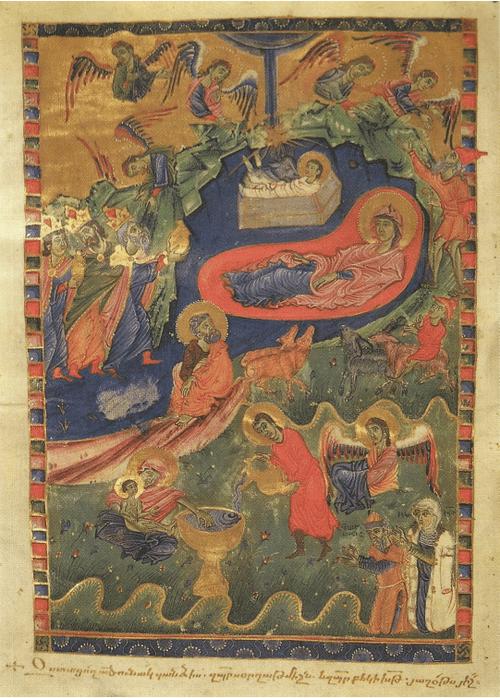 Библия 1314 г. Художник Аваг. Рождество