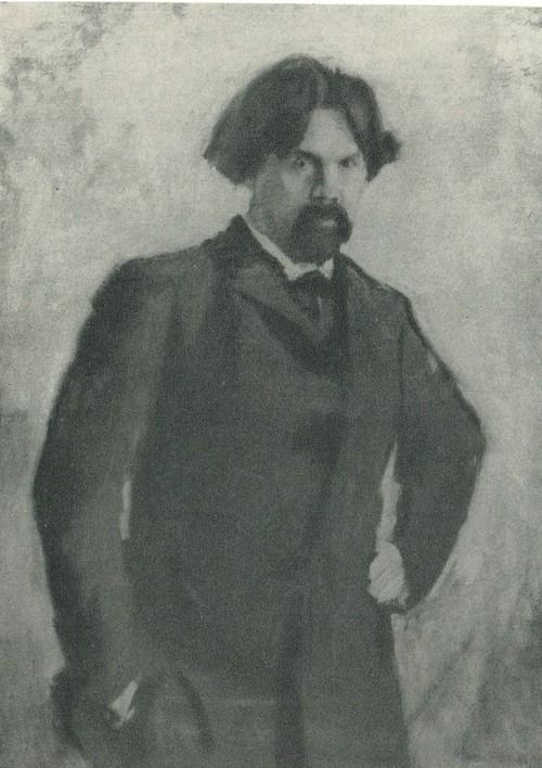 В. А. Серов. Портрет В. И. Сурикова.