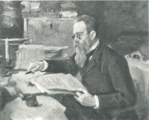 В. А. Серов. Портрет Н. А. Римского-Корсакова. 1898