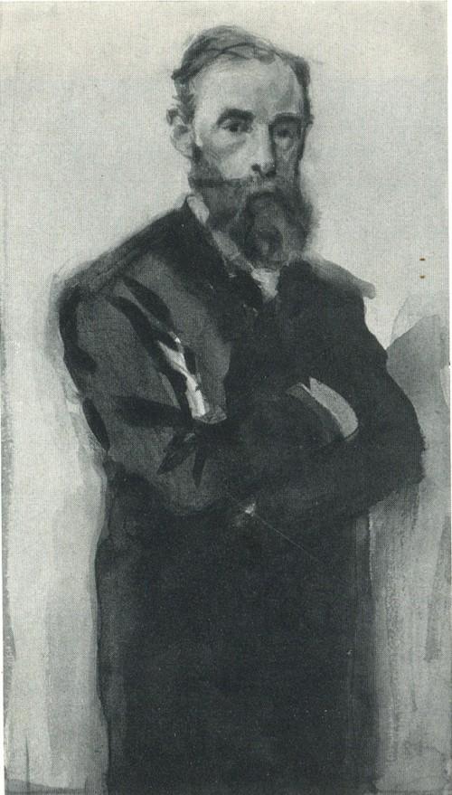 В. А. Серов. Портрет П. М. Третьякова. Эскиз. 1899