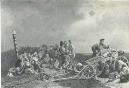 В. И. Якоби. Привал арестантов. 1861