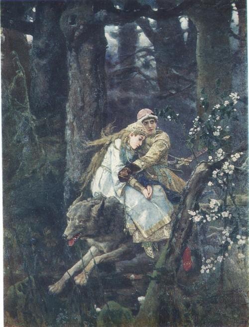 В. М. Васнецов. Иван-царевич на сером волка. 1889