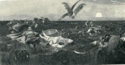 В. М. Васнецов. После побоища Игоря Святославича с половцами. 1880