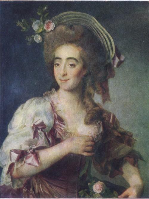 Д. Г. Левицкий. Портрет Анны Давиа. 1782