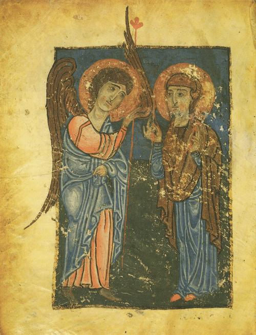 Евангелие Х – XI вв. Благовещение