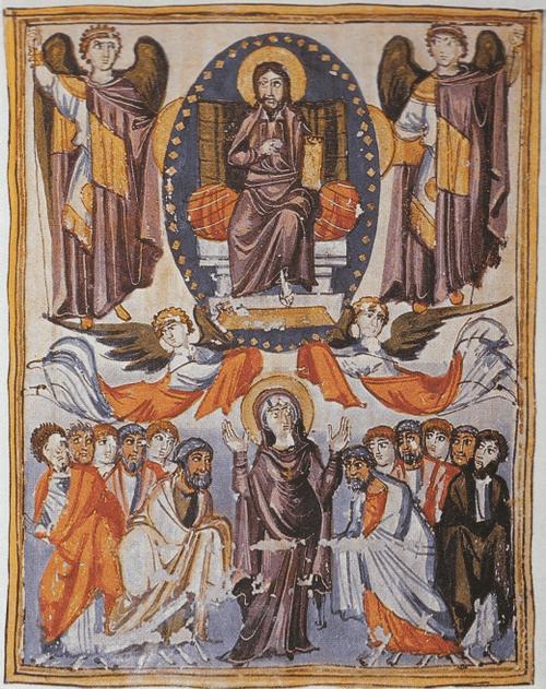 Евангелие царицы Млке 862 г. Вознесение