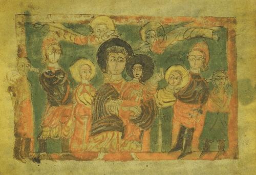 Евангелие 1033 г. Поклонение волхвов