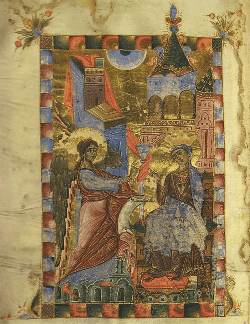 Евангелие 1287 г. Благовещение