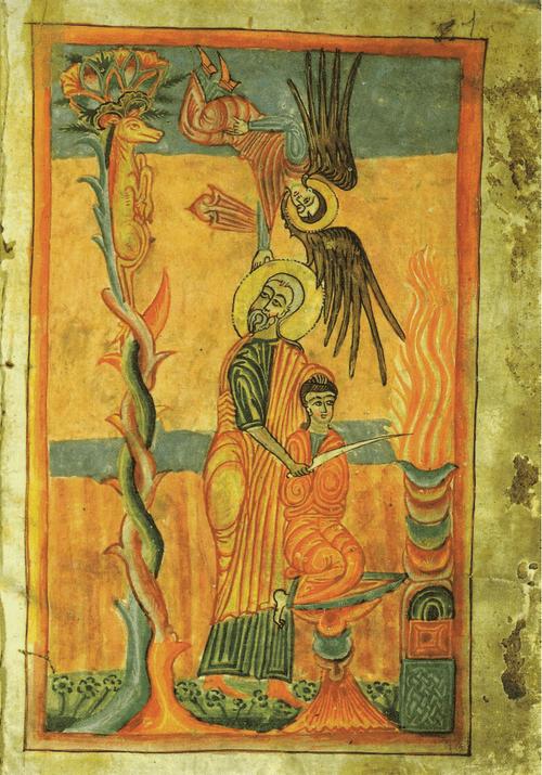Евангелие 1462 г. Жертвоприношение Авраама