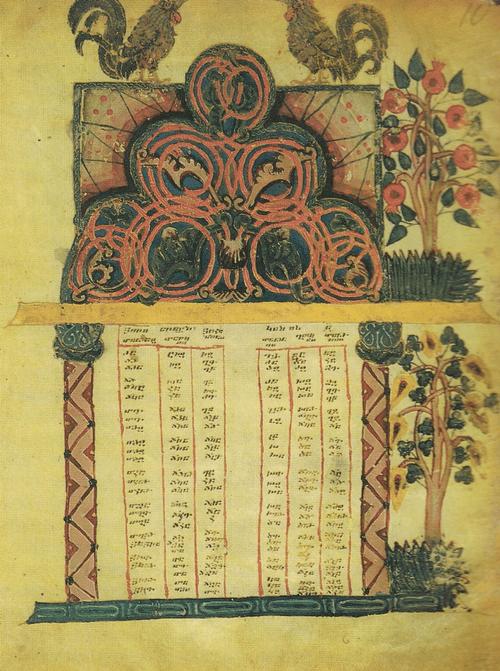Евангелие X-XI вв. Хоран с петухами