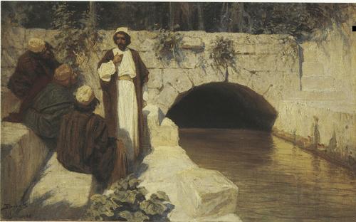 За кого меня почитают люди. Картина из серии «Из жизни Христа». 1900-е гг