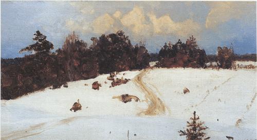 Зимний пейзаж. Бёхово. 1897