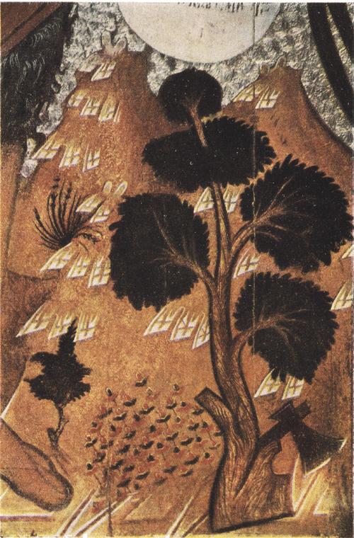 Иоанн Предтеча Ангел пустыни. Деталь цветы на поземе. XVI в.