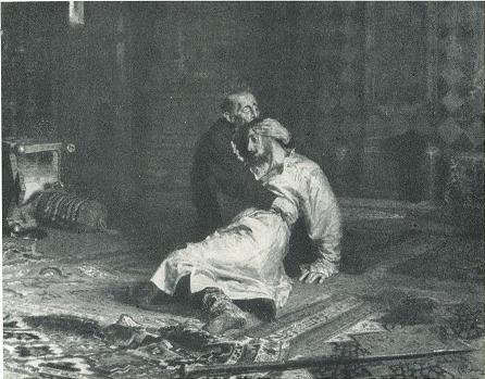 И. Е. Репин. Иван Грозный и сын его Иван 16 ноября 1581 года. 1885