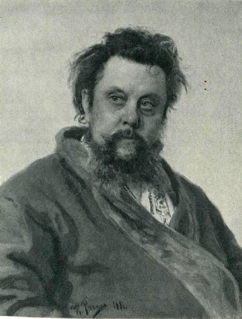 И. Е. Репин. Портрет М. П. Мусоргского. 1881