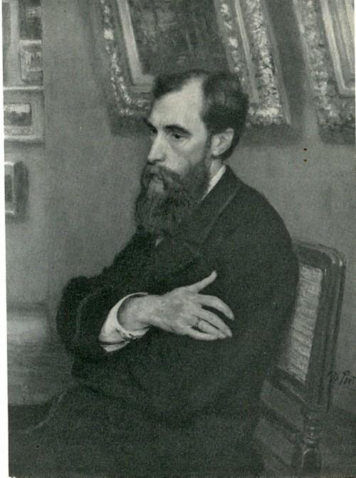 И. Е. Репин. Портрет П. М. Третьякова. 1883