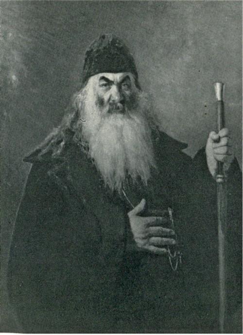 И. Е. Репин. Протодьякон. 1877