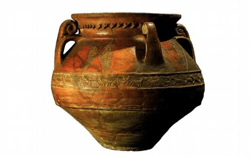 Карас с поясным орнаментом из Двина. XI в. Керамика