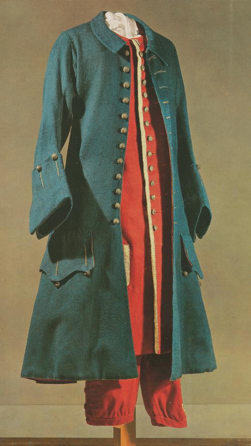 Кафтан из синего грубошерстного сукна, с отложным воротником