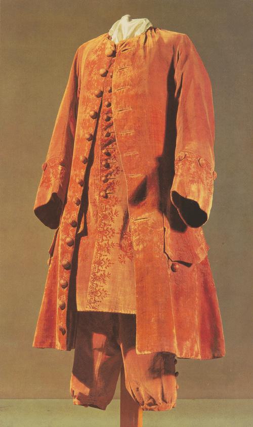 Кафтан, камзол и штаны из итальянского купонного петельчатого бархата