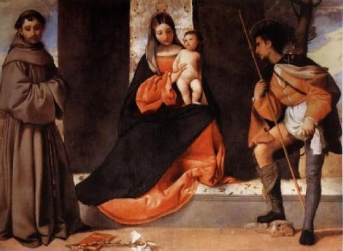 Мадонна с младенцем, святым Антонием и святым Рохом
