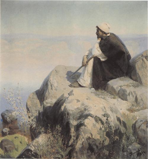 Мечты (На горе). Картина из серии «Из жизни Христа». 1894