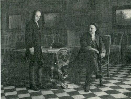 Н. Н. Ге. Петр І допрашивает царевича Алексея Петровича в Петергофе. 1871
