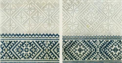 Орнамент вышивок головных уборов