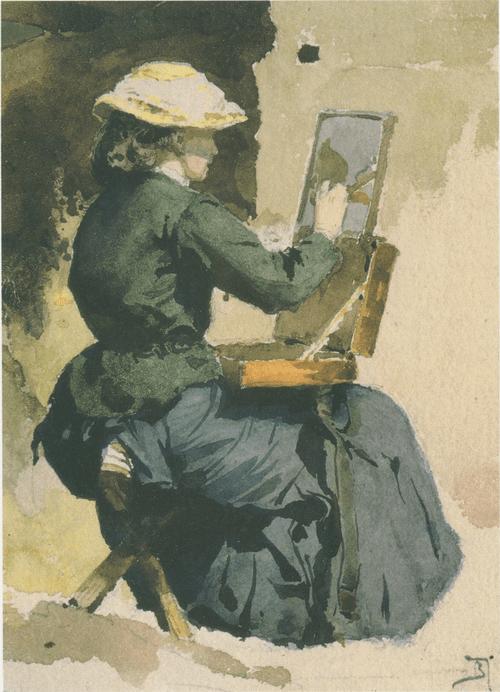 Портрет Н. В. Якунчиковой (Поленовой) за этюдом. 1882
