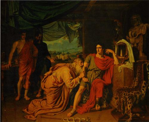 Приам, спрашивающий у Ахиллеса тело Гектора, 1824