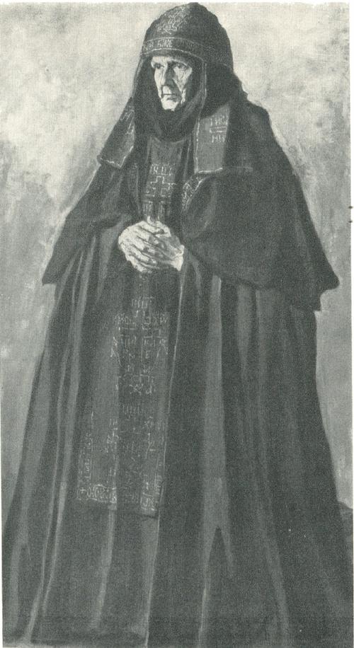 П. Д. Корин. Схимница из Вознесенского монастыря в Московском Кремле. 1933