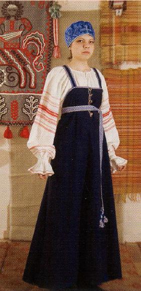 Рубаха и сарафан у карелян