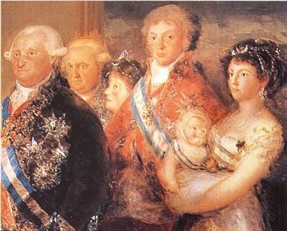 Семья Карла IV фрагмент