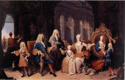 Семья короля Фелипе V
